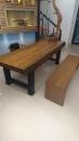 原木桌板施工 (1)