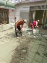 屋頂防水翻修-1.舊有慈磚及防水層清除