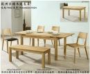 歐洲白橡木餐桌椅組