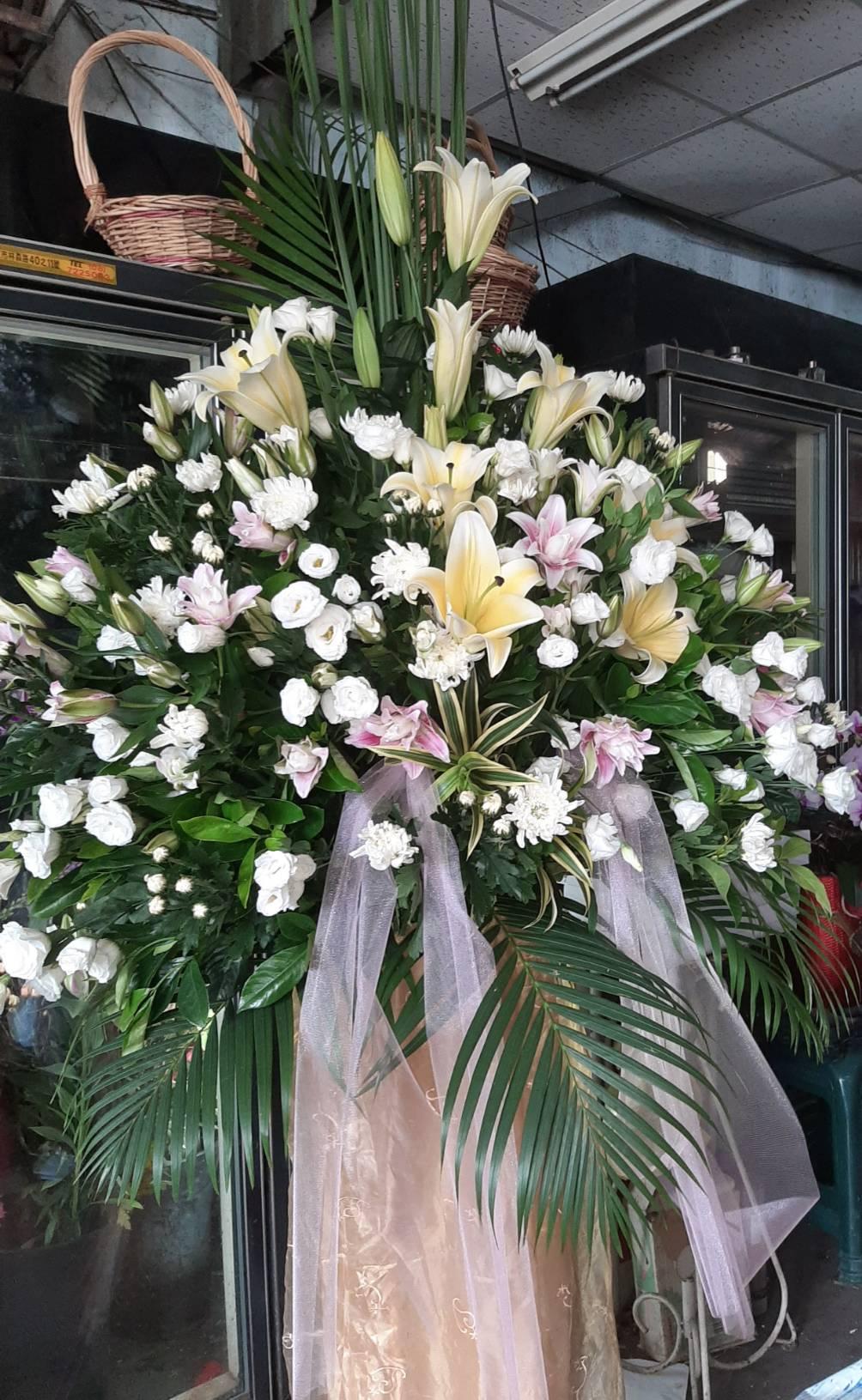 屏東花店、花籃、花束、蘭花盆栽016