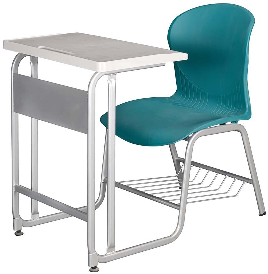 2-40新型學生單人連結課桌椅