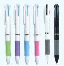 P01 白/黑管三色原子筆