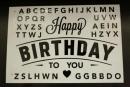卡典貼紙-黑色生日字母套裝(KD-HB01) 商品售價 $ 100