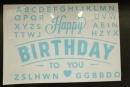 卡典貼紙-淺藍色生日字母套裝(KD-HB02) 商品售價 $ 100