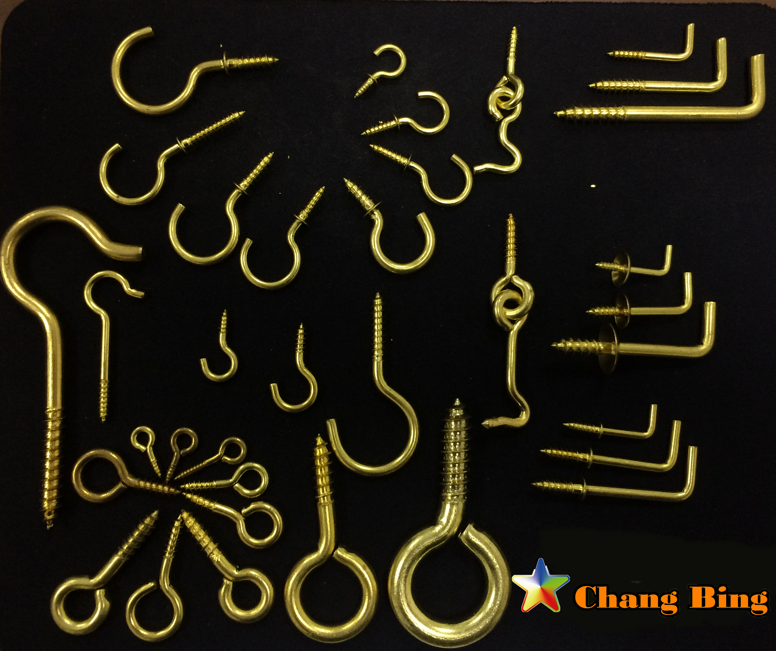 Chang Bing brass cup hook square hook screw hook
