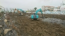 工廠基地怪手整地挖地基(挖土機)