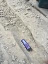 斷水施作----挖深入至結構層1公分 (2)