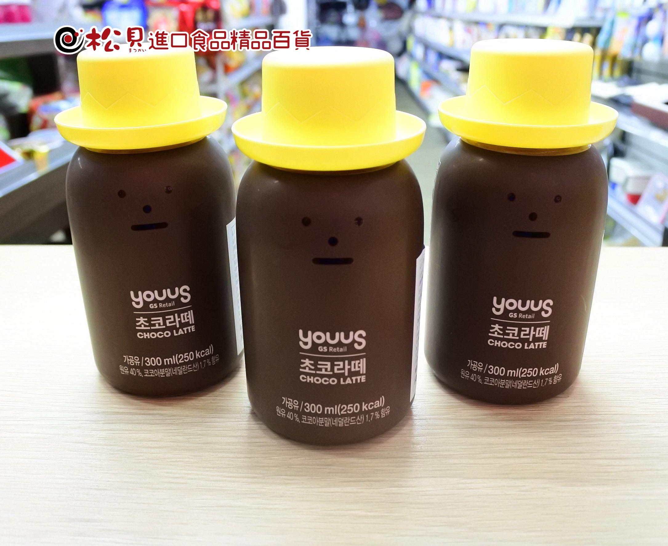 韓國黏黏怪物巧克力拿鐵300ml.JPG