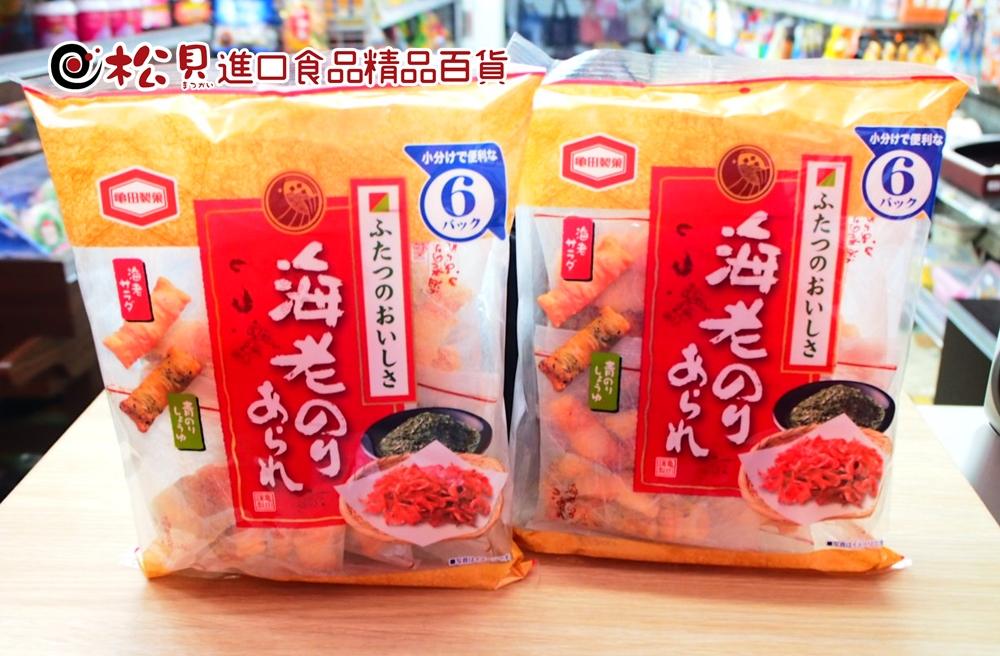 龜田海苔蝦米果6袋73g.JPG