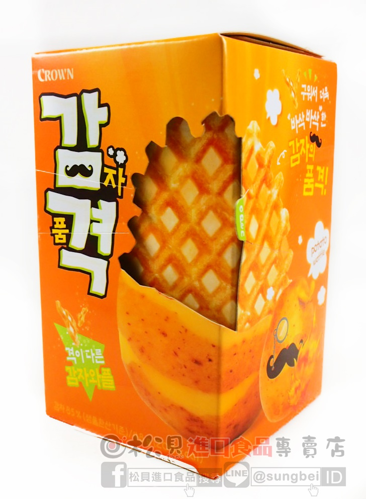 CROWN馬鈴薯鬆餅6入48g【8801111928014】.JPG
