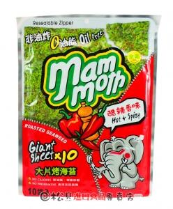 大象泰式烤海苔辣味60g【8858752601554】