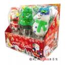聖誕棉花棒糖(支)35g 雪人、聖誕老人、聖誕樹【4712893942683】