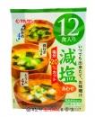 丸三減鹽味噌湯12食168g【4901033184346】