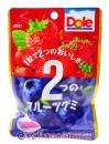 不二家Dole軟糖(草莓&藍莓)45g【4902555120201】