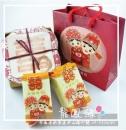 [客製喜米禮盒]富貴滿堂喜米禮盒(杯墊+隔熱墊,附贈外提袋)