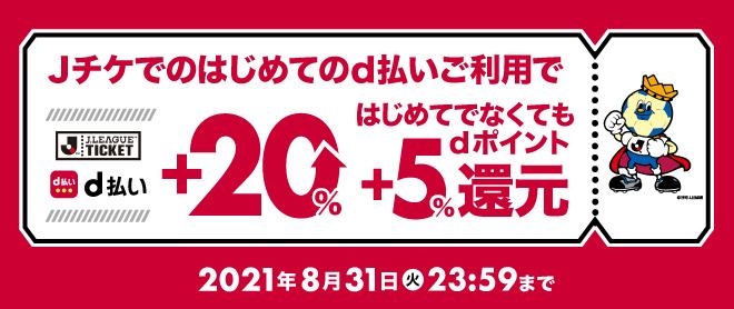 dポイント+20%キャンペーン