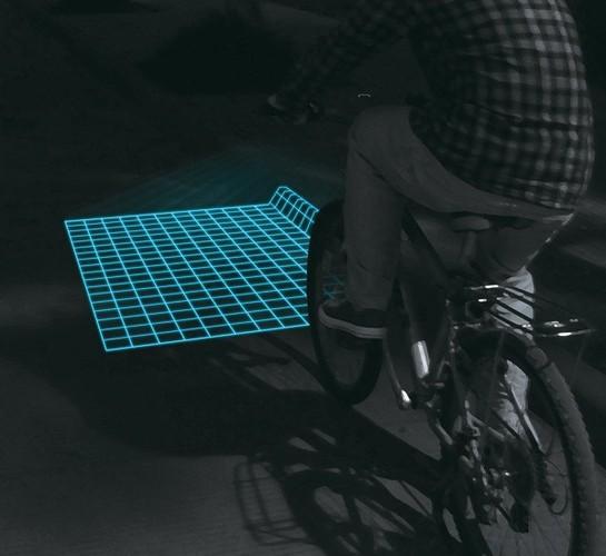 格子状自転車ライト