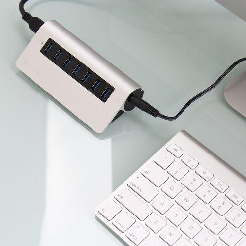MacにピッタリアルミニウムUSBハブ