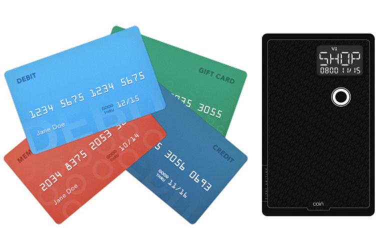 複数のクレジットカードの情報を1枚にまとめられるCoin。