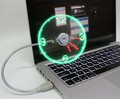 Normal usb led fan clock1