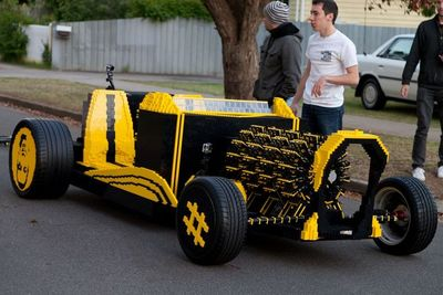 Normal life size lego car1