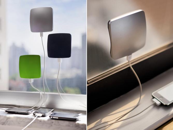 太陽光で充電可能なiPhone充電器
