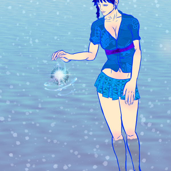 和×女性×水辺×未知の力