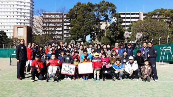 障がいのある子供たち、テニスを楽しむ人がボールをつなぎ、地域をつなぐチャレンジテニス大会プロジェクト