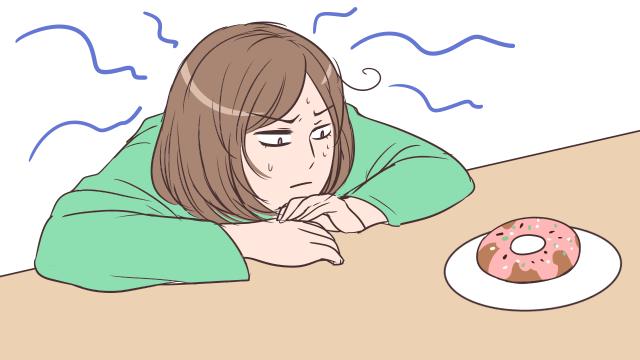 ちょっとだけならと一口食べる→理性が崩壊