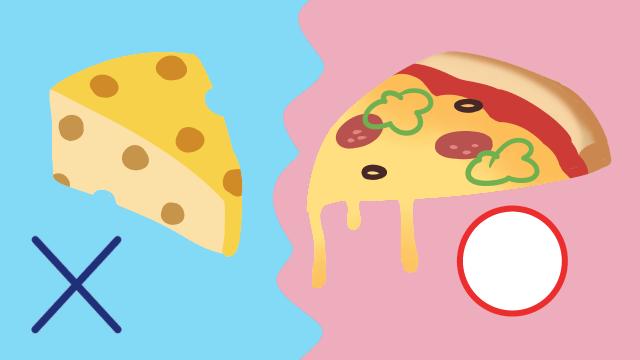 固形のチーズは食べられないがとろけているのは食べられる