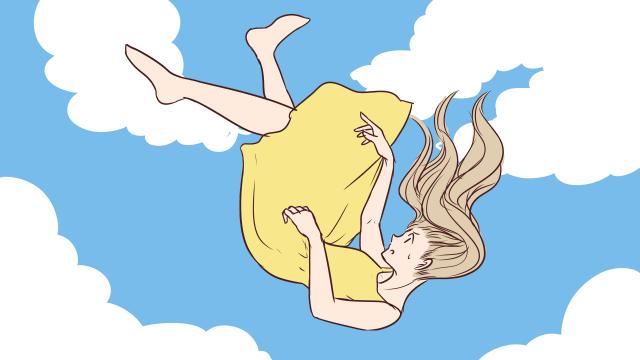 どこか高い所から落ちる夢