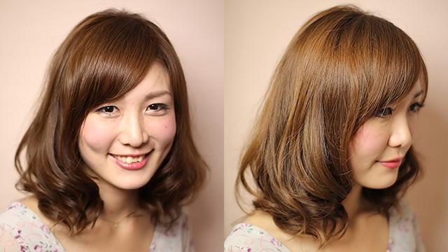 秋冬のヘアスタイル「綺麗なシルエットミディアム」