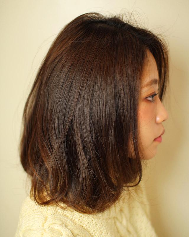 「柔らかスイングボブ」の写真【サイド】