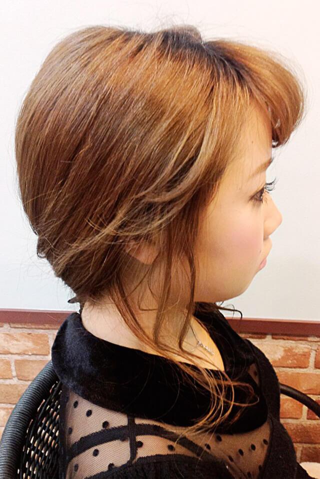 「ミディアムにおすすめの編み込みヘア」の写真【サイド】