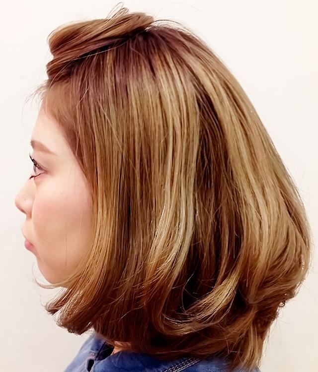 「都会っぽいヘアアレンジ」の写真【サイド】