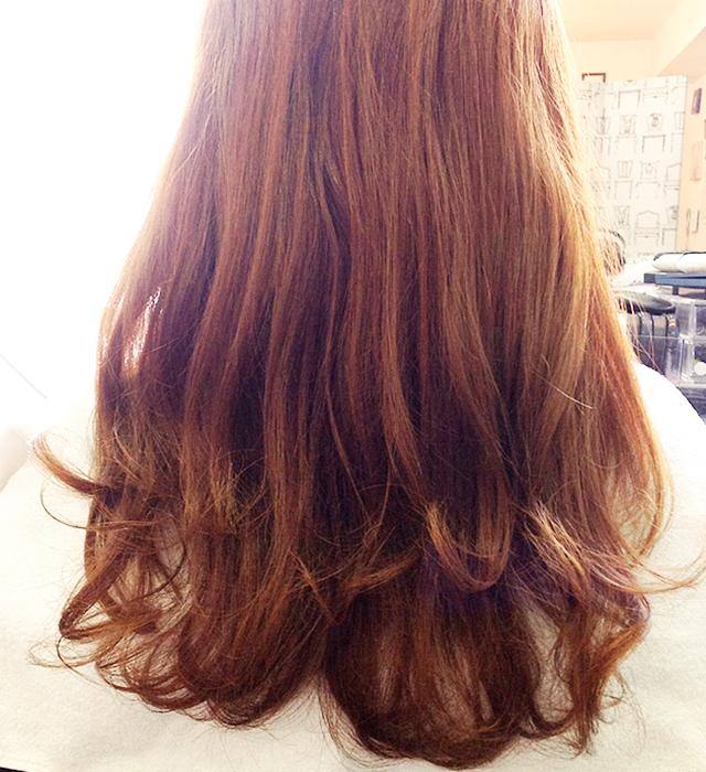 「浴衣に似合う編み込みヘアアレンジ」の手順_1
