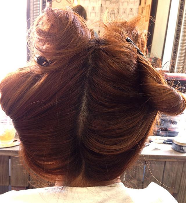 「浴衣に似合う編み込みヘアアレンジ」の手順_2