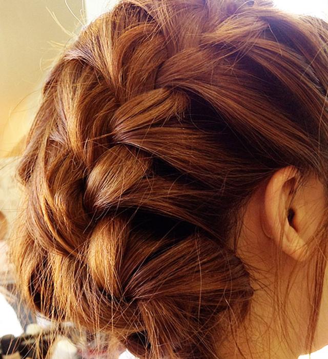 「浴衣に似合う編み込みヘアアレンジ」の手順_5