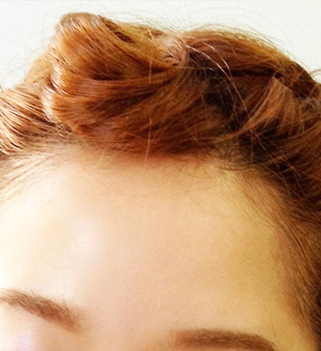 「浴衣に似合う編み込みヘアアレンジ」の手順_7