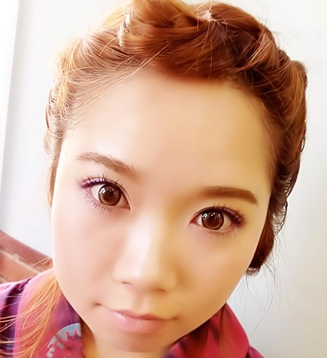 「浴衣に似合う編み込みヘアアレンジ」の手順_8