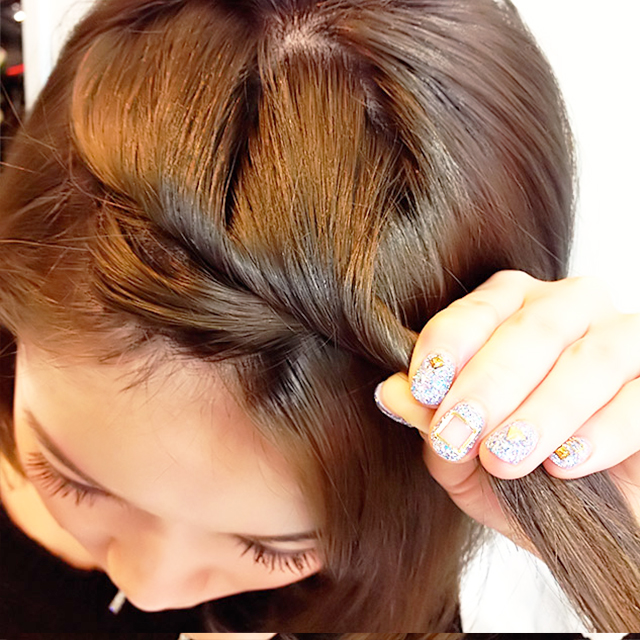 「通勤&通学にぴったりのヘアアレンジ」の手順_4