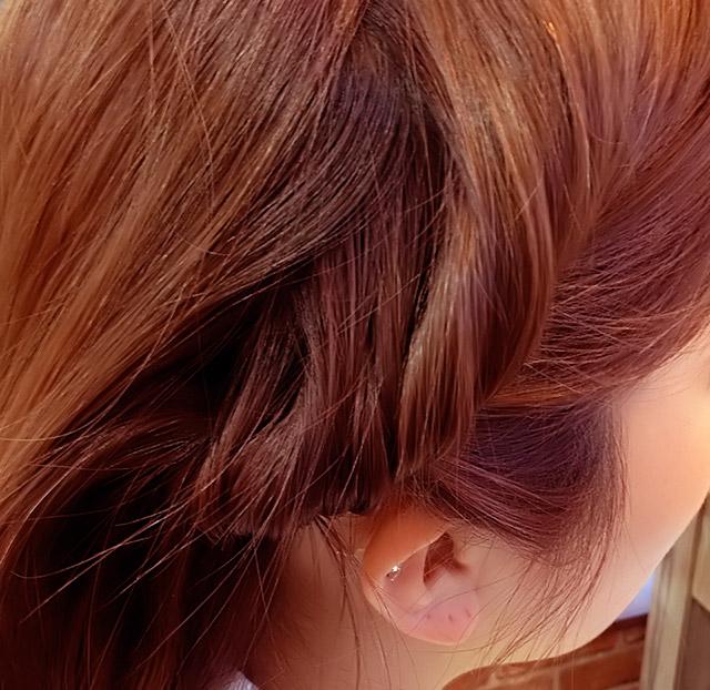 「浴衣に似合うヘアアレンジ」の手順_3