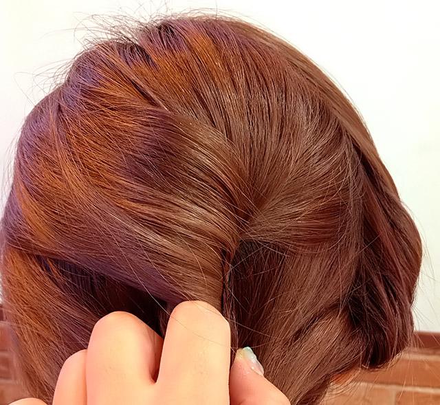 「浴衣に似合うヘアアレンジ」の手順_4