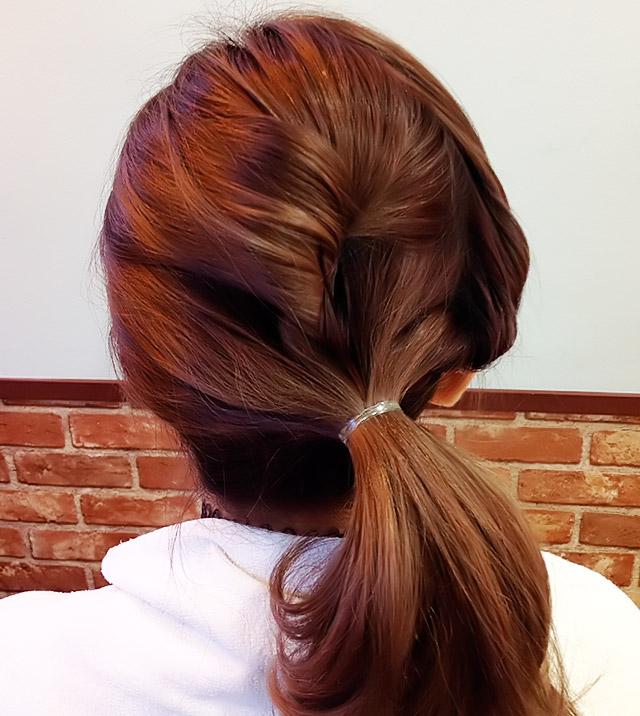 「浴衣に似合うヘアアレンジ」の手順_5