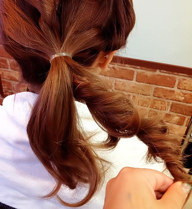 「浴衣に似合うヘアアレンジ」の手順_6
