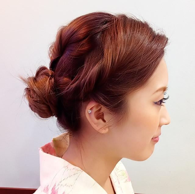 「浴衣に似合うヘアアレンジ」の写真【サイド】