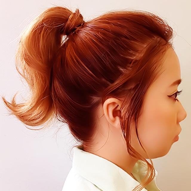 真夏でも涼しげなヘアアレンジ_手順