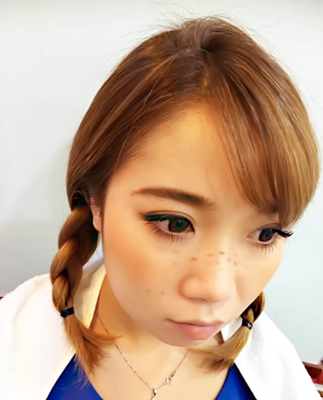 ありの~ままの~妹風★ハロウィンヘアアレンジ_4