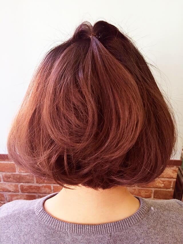 初詣デートヘアアレンジの写真【バック】