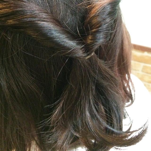 「春デートヘアアレンジ」の手順_3